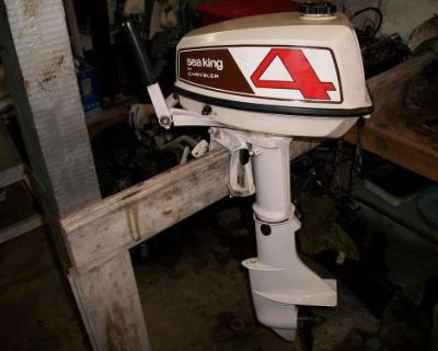 1976 4hp Sea King Outboard Motor Made By Chrysler Thru Montgomery Wards - 1 Hour