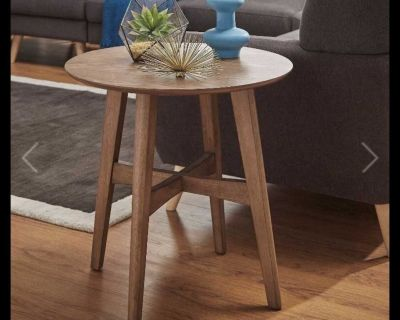 Wood Modern End Table Side Table Walnut Color