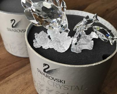 SWAROVSKI Butterfly fish on Coral AND, 3 Southsea fish on Coral deal!