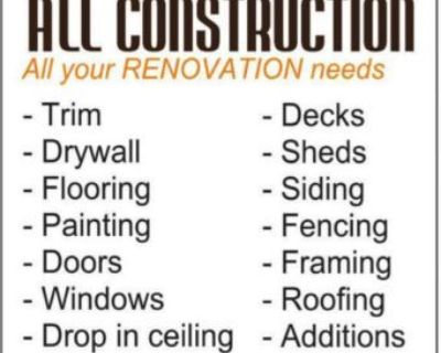 ALL CONSTRUCTION All your ...