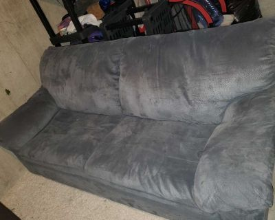 Free items! Pull out couch, bike&carrier, lamp, laptop desk, laundry organizer, ottoman/storage