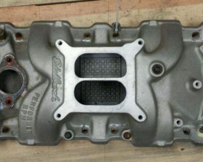 Edelbrock 7101 Performer Rpm Alu. Intake To Fit Dart Racing Heads Gm Chevrolet