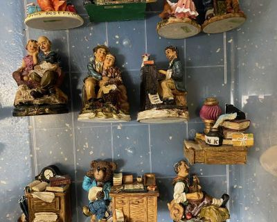 The Mirella Collection Resin Figurines and Porcelain (48-Pieces)