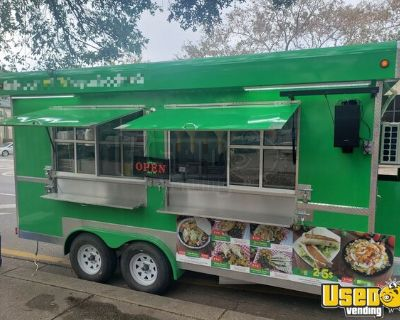 Turnkey 2020 8' x 16' Food Concession Trailer / Permitted Mobile Kitchen