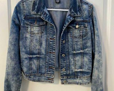 women s long sleeve jean jacket