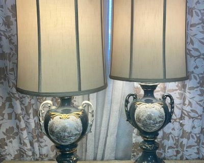 Pair of Vintage Victorian Table Lamps