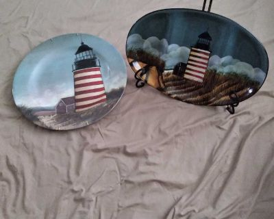 SERVING TRAY & PLATE LOT