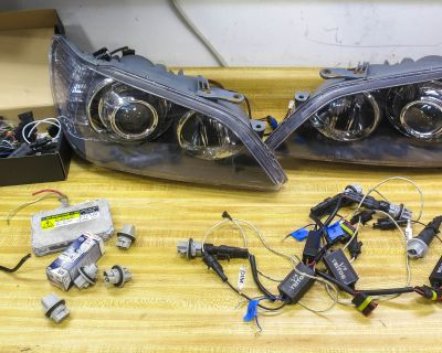 For Sale: Custom Lexus IS300 HID Projector Retrofit Headlights with V-LED Triton Switchback DRL Signals