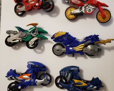 Lot of Power Rangers Motorcycles