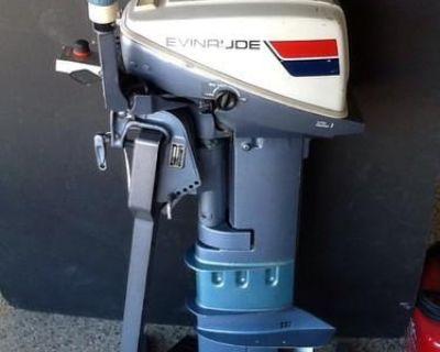 1974 Evinrude 9.9 Hp Outboard Motor Long Shaft Tiller Remote Control