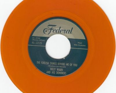 DOMINOES ~ These Foolish Things Remind Me Of You*M-45*RARE ORANGE WAX !