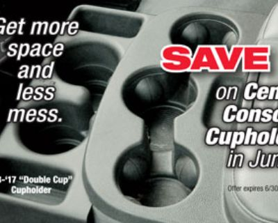 Geno's Garage June Special - Save 10% on Center Console Cup Holders