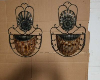 Rustic flower wall sconces