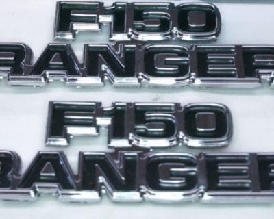 1977-79 Ford Truck Nos F150 Ranger Emblems Xlt Lariat 2x4 4x4 Free Wheeling