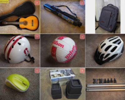 Garage sale - sports, electronics, household, etc