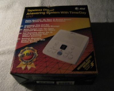 NEW * AT&T Tapeless Digital Answering System w/ Time of Day