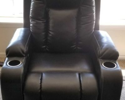FOR SALE: Like-new, one-touch power recliner. Barely used.