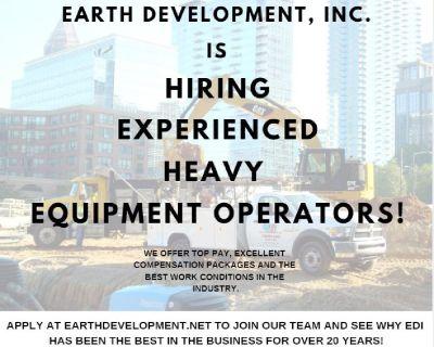 Wanted- Heavy Equipment Operators