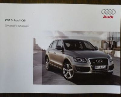 2010 Audi Q5 Owner's Manual Set W/case And Other Books. No Reserve