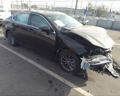 Salvage Black 2018 Lexus Es