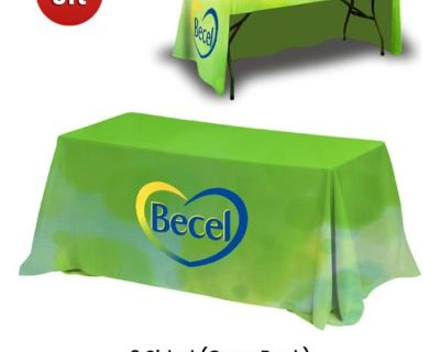 Custom Tablecloth | Table cloths for Promotion | Tent Depot