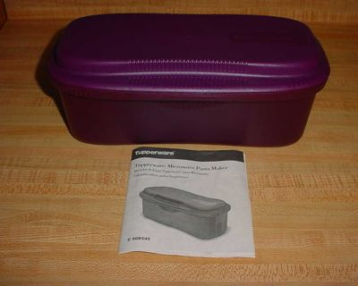 New Tupperware Deep Purple Microwave Pasta Maker Cooker With Instruction Booklet. Cook, Drain, Serve & Store All In One Product. Easily...