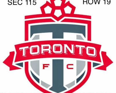 TFC Tickets Sunday Aug 1st Game @70