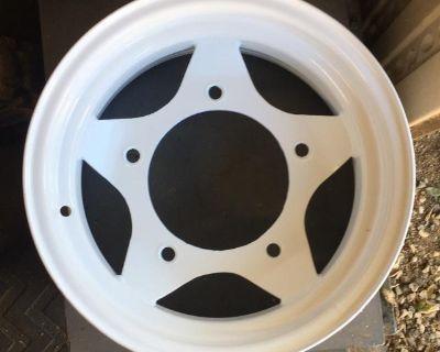 2 White Spoke Rims New Powder Coating