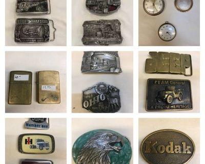 Belt Buckles, Lighters, Pocket Watches Sale