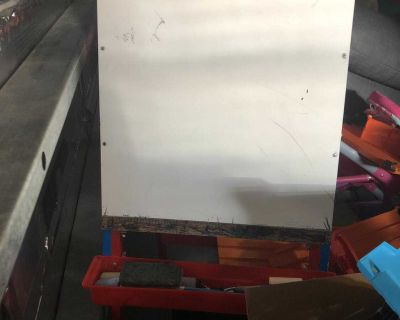 2 sided easel chalkboard and dry erase board