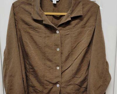 GUC August Max Woman Silk Jacket; size 3x
