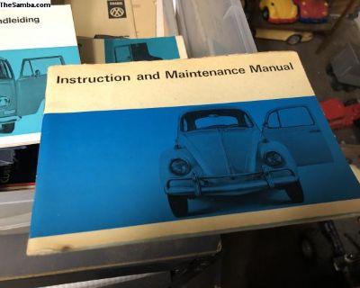 Original VW Bug owners manual 1970