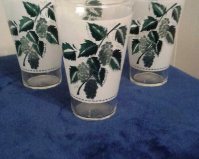 3 Vintage Glasses
