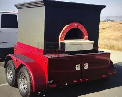 Used Mobile Pizzeria / Valoriani Wood-Fired Brick Oven Pizza Trailer