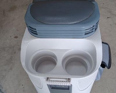 Cooler , cup holder console