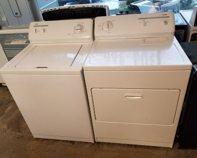 Refurbished Kenmore washer and dryer white delivery/installation/warranty