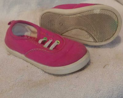 Size 6 Faded Glory canvas sneakers pink