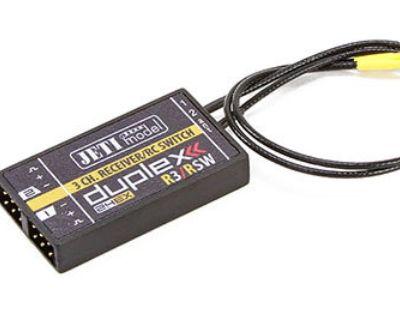 Jeti Duplex EX R3/RSW 2.4GHz Receiver & RC Switch w/Telemetry