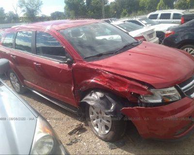 Salvage Red 2014 Dodge Journey