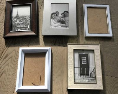 """Five 4 x 6"""" frames - price is for all"""