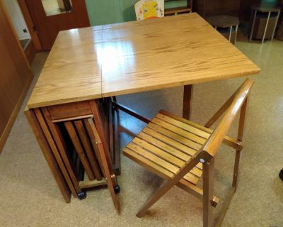 Vintage space saving multifunctional table & chairs