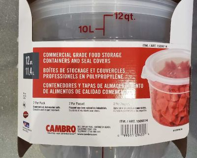 Commercial Grade Food Storage Containers 2 pack