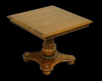 """Ethan Allen Vintage Manor 20"""" Square Bunching Accent End Tables"""