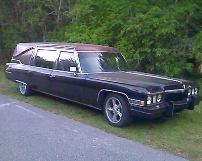 1973 Cadillac superior hearse 500CID extra running engine extra parts\trim\glass\hood