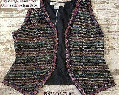 Buy Vintage Beaded Vest Online at Blue Jean Baby
