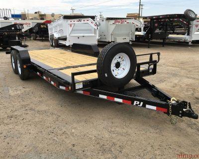 7x20 Heavy Duty Car Hauler, Heavy Duty Equipment Tiltbed PJ Trailer TJ202