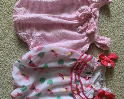 Crown and ivy bubble rompers