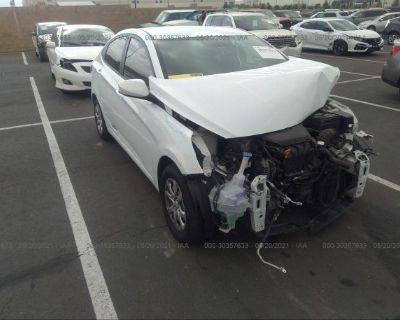 Salvage White 2013 Hyundai Accent