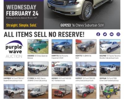 February 24 vehicles and equipment auction