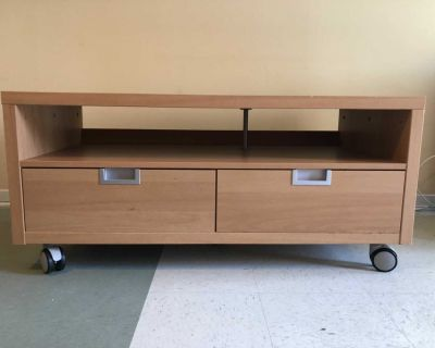 TV STAND / Coffee TABLE on WHEELS + BIG STORAGE Drawers! Moving sale! MUST SELL FAST!!